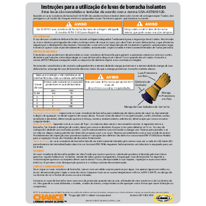 CHANCE Rubber Insulating Gloves User Instructions (07-1102-por) Portuguese