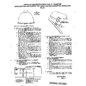 Superbay AL Reflector Instruction Sheet