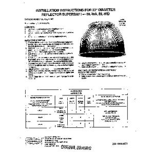 Superbay WA/WD Acrylic Reflector Instruction Sheet