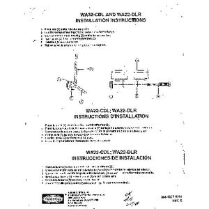 WA22-CDL/WA22-DLR Instruction Sheet