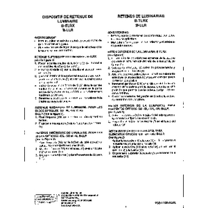 Superbay Top/Lower Luminaire Retainer Instruction Sheet