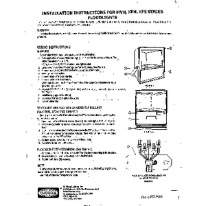 MVH/KFH/KSF Fixture Installation Sheet