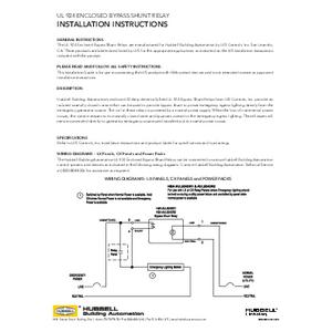 Bypass Shunt Relays Install Sheet