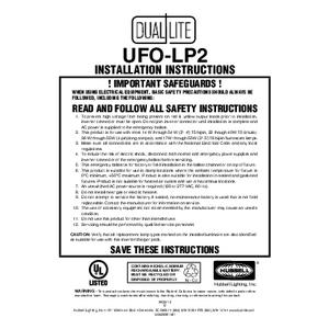 Lampak UFO-LP2 Installation Instructions