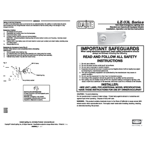 LZ Series installation instruction sheet