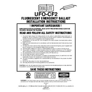UFO-CF2 Installation Instructions