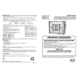 LN4X Series Installation Instructions