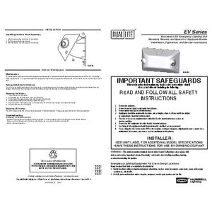 EV Instruction Sheet