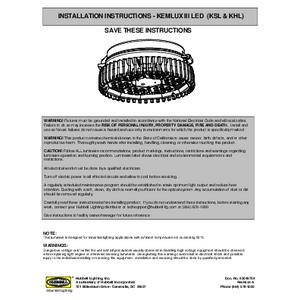 Kemlux III Installation Manual