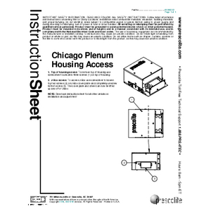 Chicago Plenum Housing Access Installation Manual