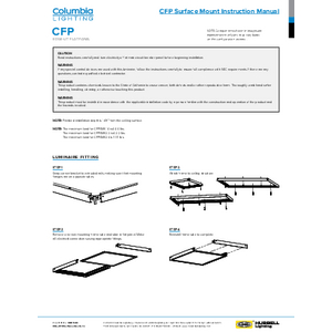 CFP Surface Mount Kit Assembly Instruction Sheet