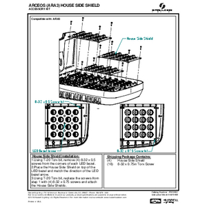 ARA3 House side shield Instruction Sheet