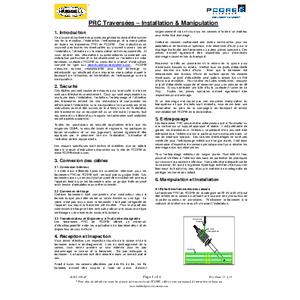 PRC Traversées – Installation & Manipulation (French)