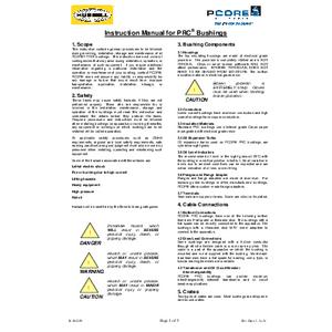 Instruction Manual for PRC® Bushings