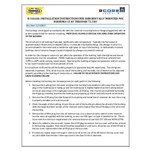 Installation Instructions for Horizontally Mounted POC Bushings 15 kV through 72.5 kV