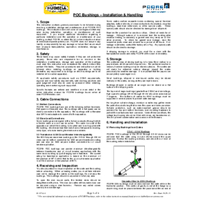 POC Bushings – Installation & Handling
