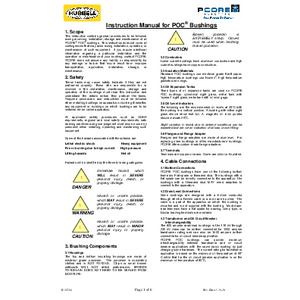 Instruction Manual for POC® Bushings
