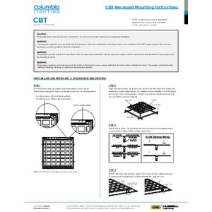 CBT Recessed Installation Manual