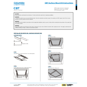 CBT Surface Mount Installation Manual
