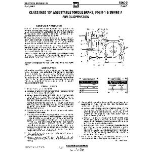 Adjustable Torque Drum Brake - Class 5060-2, 10in