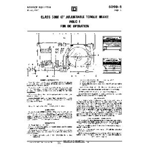 Adjustable Torque Drum Brake - Class 5060-1, 13in