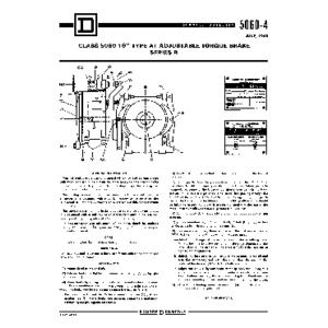 Adjustable Torque Drum Brake - Class 5060-4, 16in