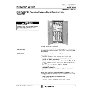 DC Crane Control - Class 6121 Reversing Plugging Controller
