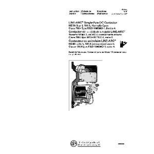 DC Magnetic Contactor - Class 7004 Type MEO1, 100A, SPNO, Size NEMA3, Series A