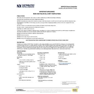 FX Room Controller Installation Sheet