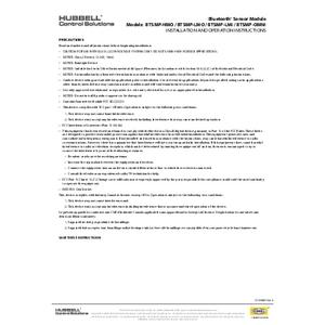 BTSMP Series Installation Sheet