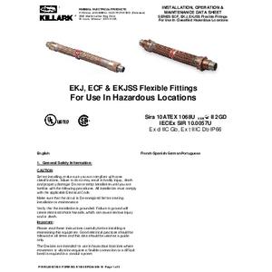 ECF & EKJ Series IOM K1480