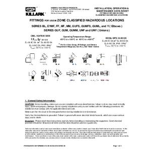 ATEX Elbows & Unions IOM K1435