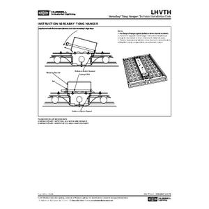 Tong Hanger Instruction Sheet