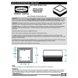 NRG4-30L Instruction Sheet