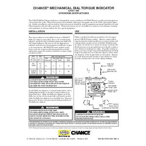 CHANCE Mechanical Dial Torque Indicator