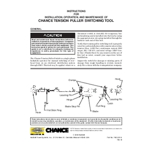 CHANCE Tension Puller Switching Tool Instructions (P400-2314revB)