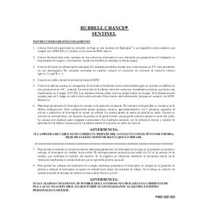 CHANCE Sentinel Operating Instructions (P405-0321ES) Spanish