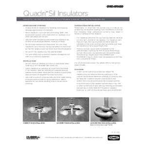 Quadri*Sil Insulators - Handling, Storage & Cleaning Instructions