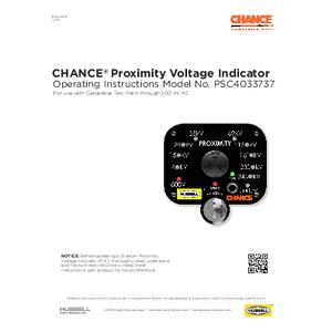 CHANCE Proximity Voltage Indicator (PVI) Operating Instructions (PSP4033797)