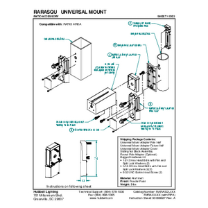 Ratio Universal Mount Instruction Sheet