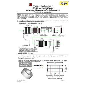 GB/GD & SB/SD Series Receptacles IOM