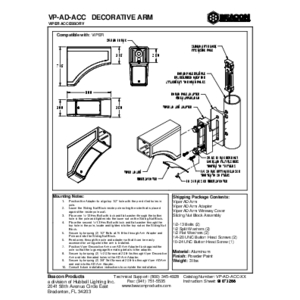 Viper Decorative Arm Instruction Sheet