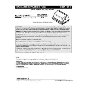 WGH 110L/225L Instruction Sheet