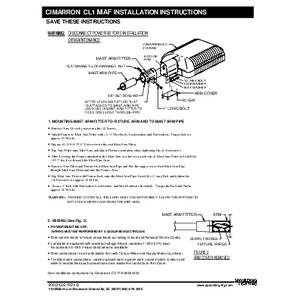 Cimarron LED CL1 Mast Arm instructions