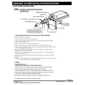 Cimarron CR1 Mast Arm instructions
