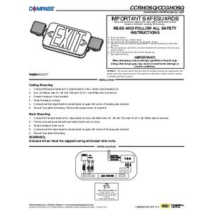 CC SQ Series Instruction Sheet