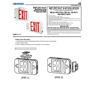 CE Instruction Sheet