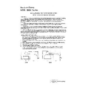DDC/DDR Installation Instructions