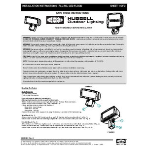 FLL and FXL Instruction Sheet