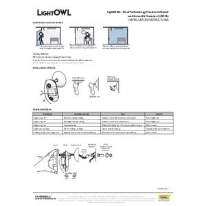 LightOWL LODIA, LODIARP Install Sheet